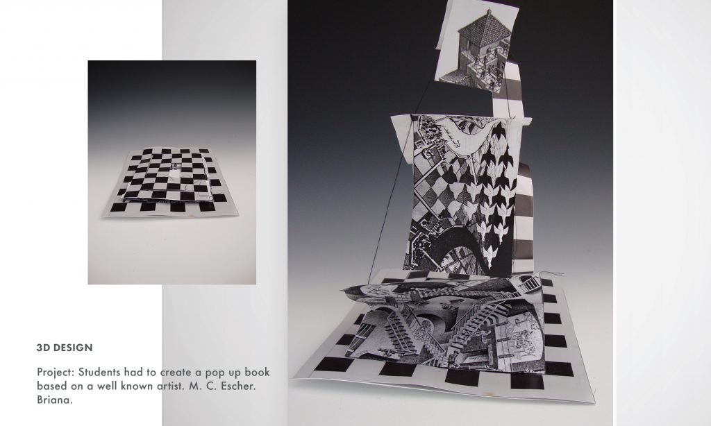 Palm Beach State College, Professor Victoria Martin student art and designs
