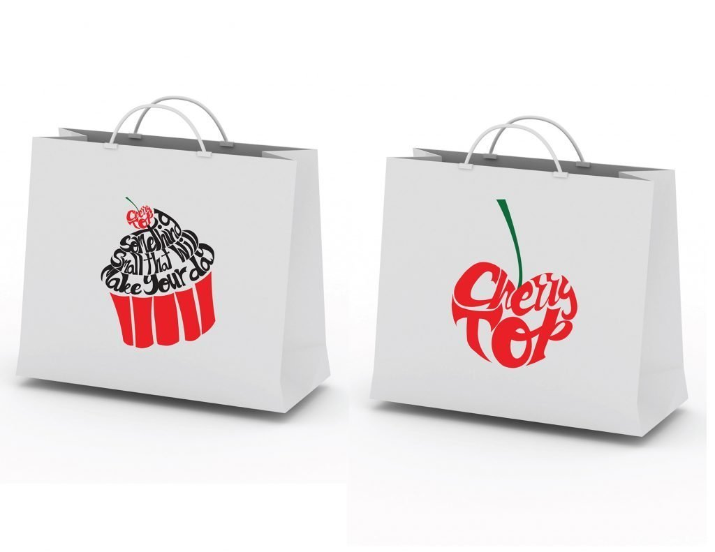 custom shopping bag design by Jessica V