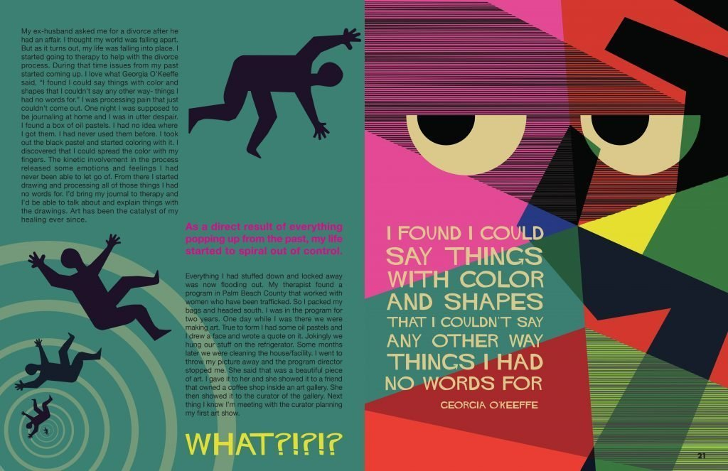 double page layout by Erin