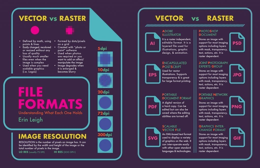 graphic design student vector versus raster
