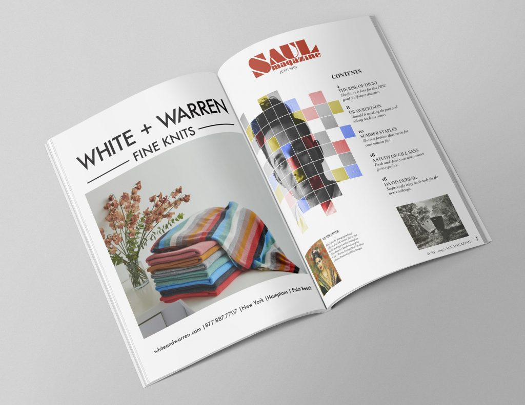 magazine layout by Paul Digio Designs