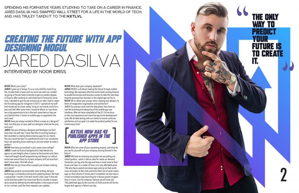 magazine layout by design student Noor