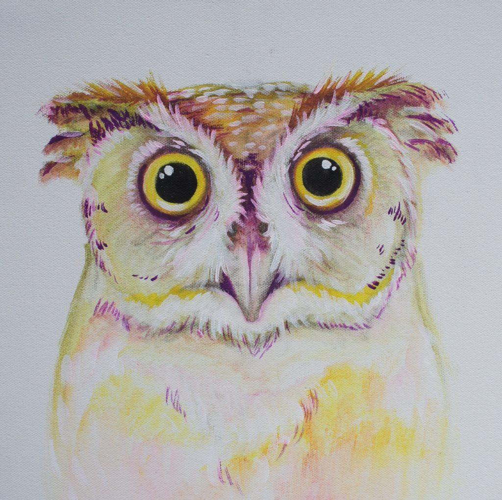 Victoria Martin's student watercolor