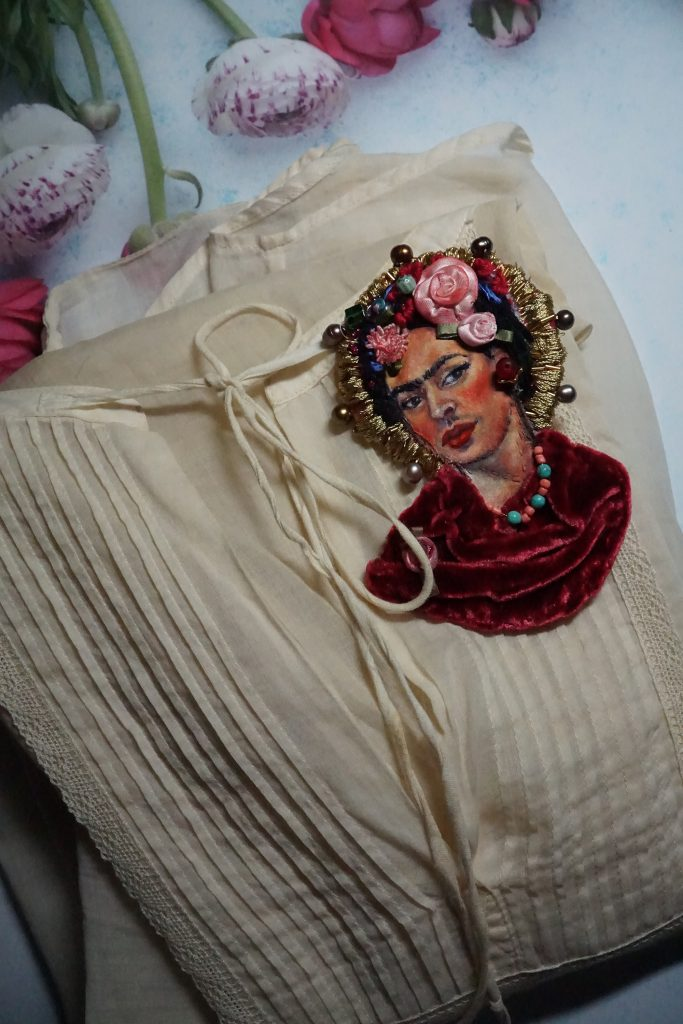 Frida brooch by Victoria Rose Martin