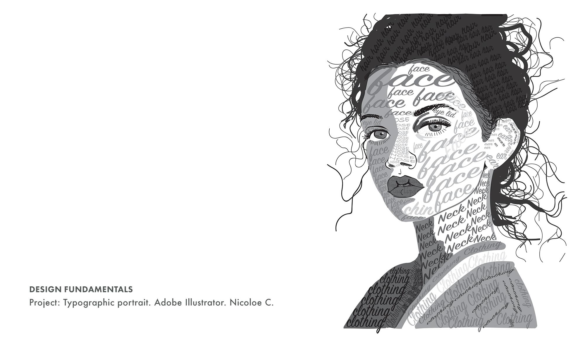 student work: Professor Victoria Martin. Palm Beach State College, Art and Graphic Design