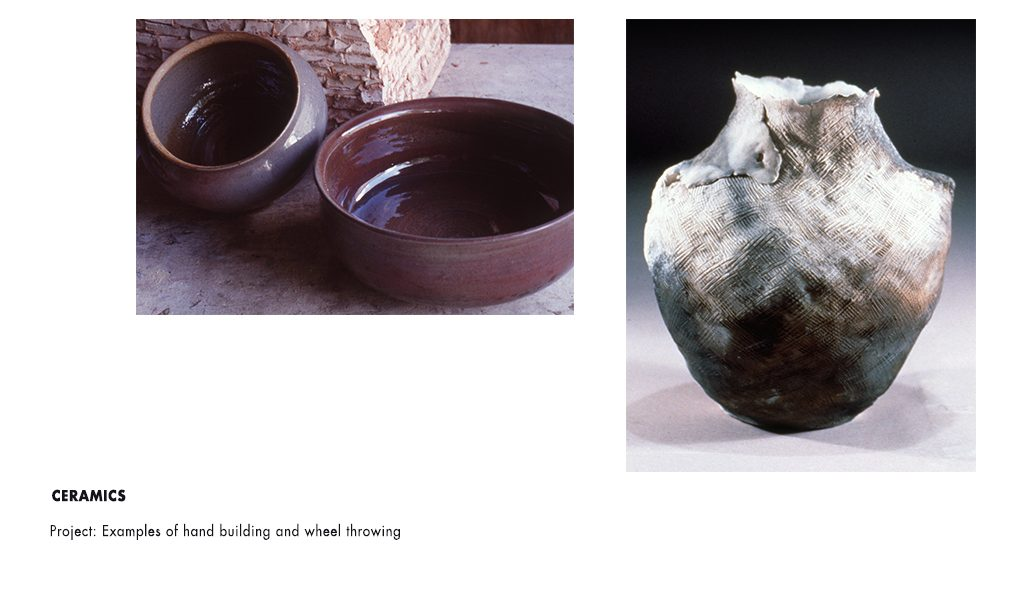 Professor Victoria Martin student work ceramics