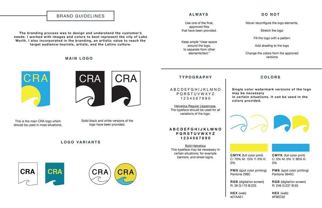 graphic design specimen sheet