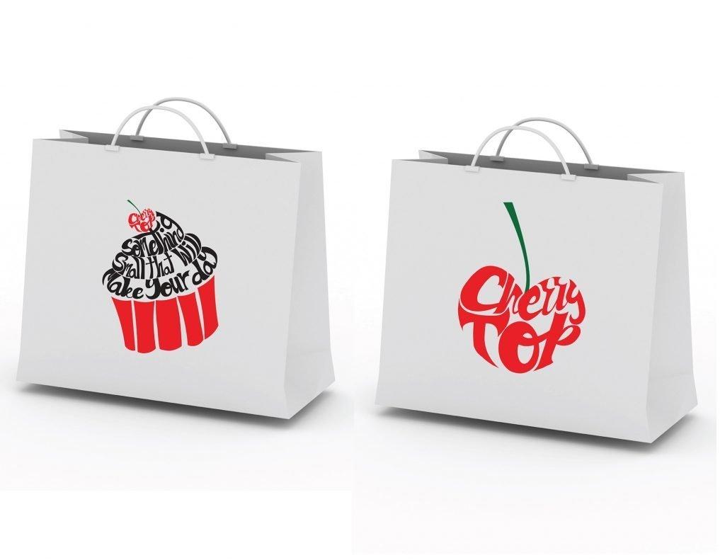 custom shopping bag design by Jessica V