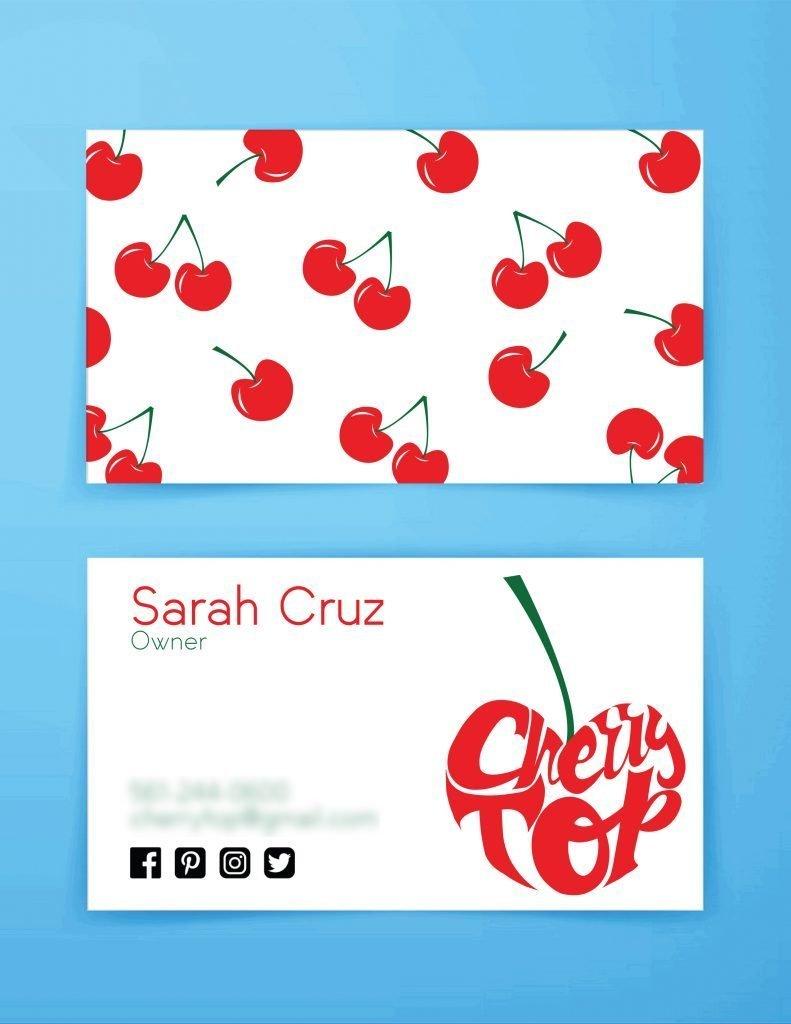 busines card sample by design student Jessica V
