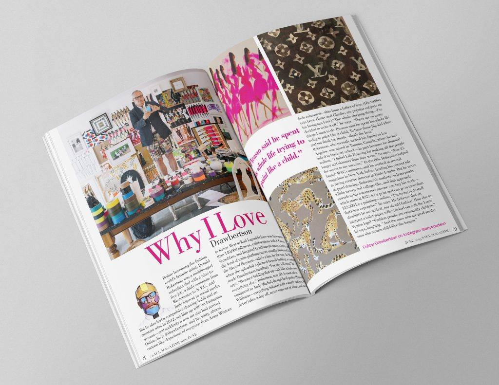 magazine layout from publication design class
