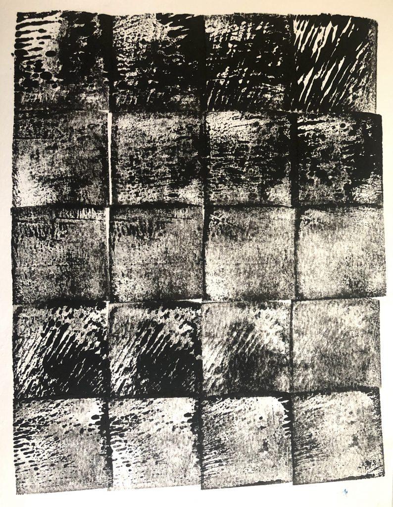Professor Victoria Martin monoprint