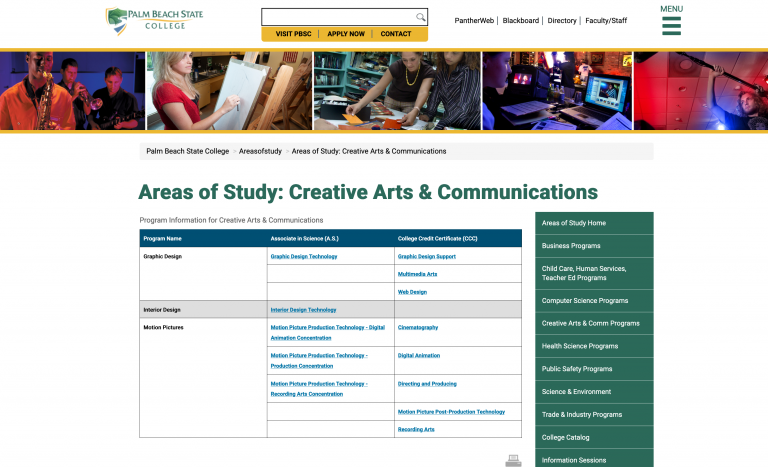 Areas of study: Humanities Palm Beach State, Lake Worth